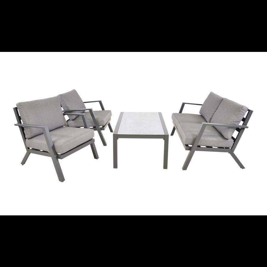 Stoel-Bank Loungeset - Marah - Aluminium - Lesli Living-3