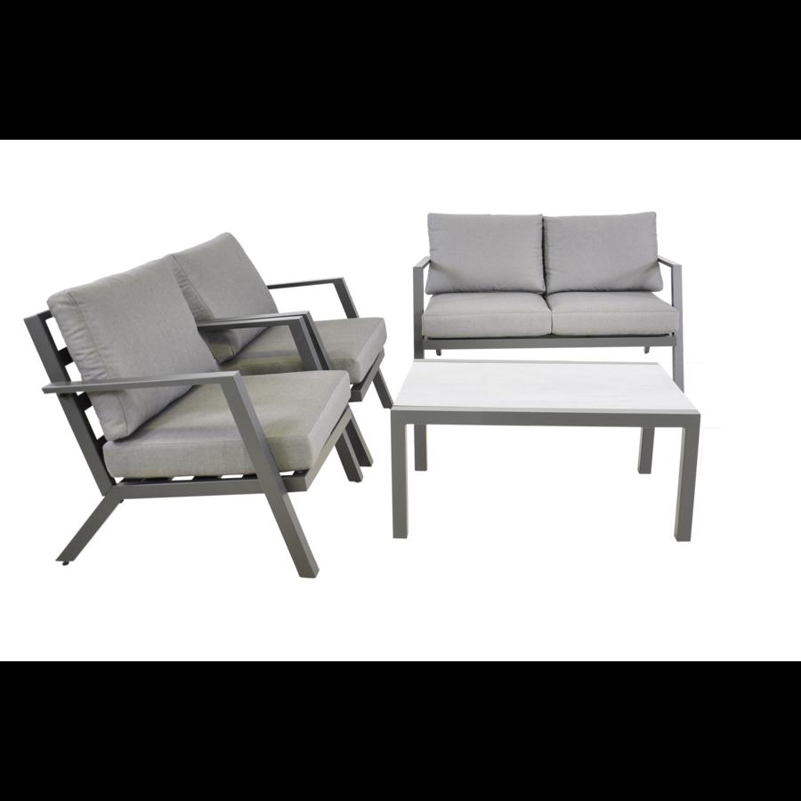 Stoel-Bank Loungeset - Marah - Aluminium - Lesli Living-2