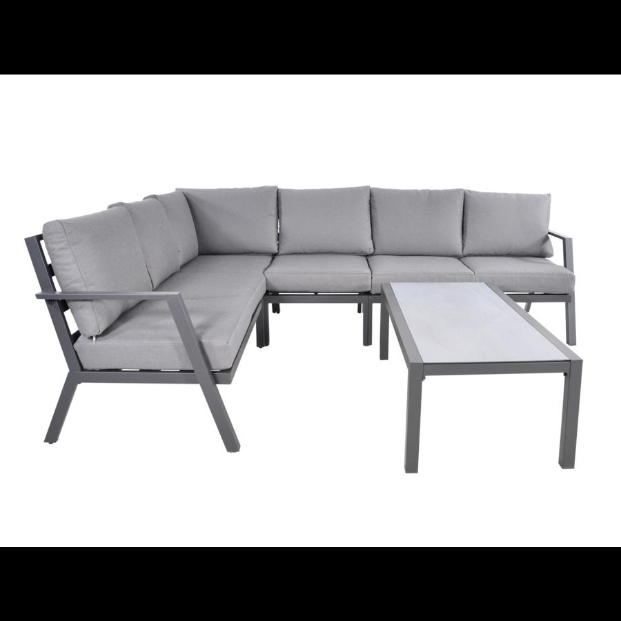 Hoek Loungeset - Marah - Aluminium - Lesli Living-2