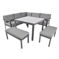 thumb-Dining Loungeset - Xara - Aluminium - Lesli Living-1