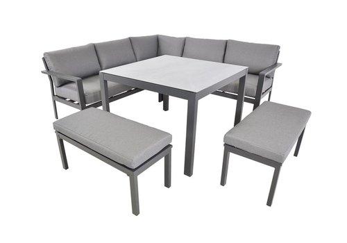 Dining Loungeset - Xara - Aluminium - Lesli Living