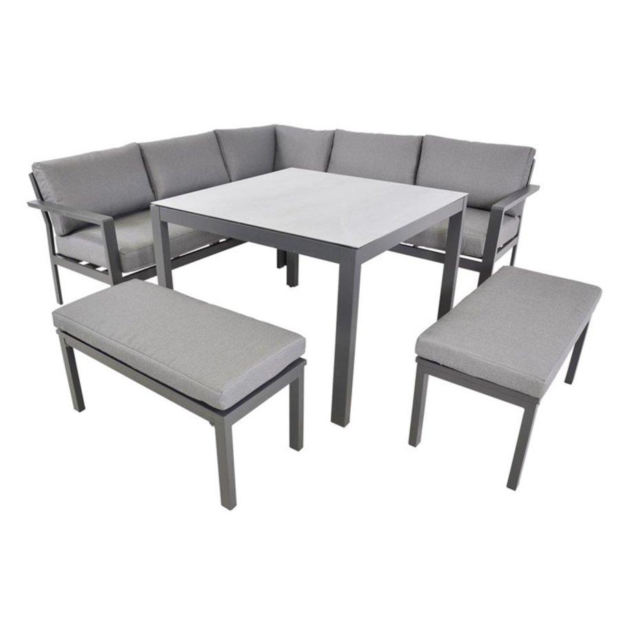 Dining Loungeset - Xara - Aluminium - Lesli Living-1