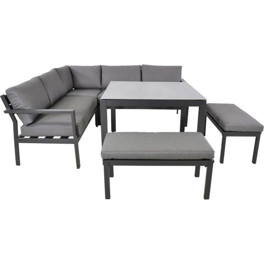 Dining Loungeset - Xara - Aluminium - Lesli Living-2