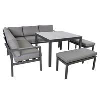 thumb-Dining Loungeset - Xara - Aluminium - Lesli Living-7
