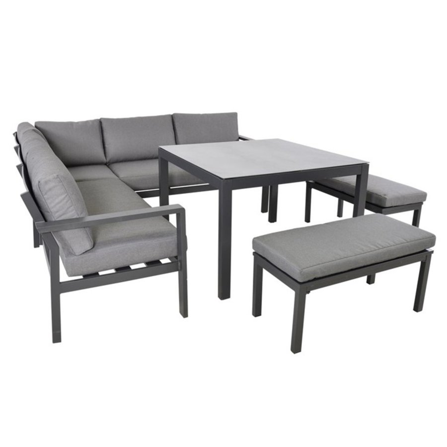 Dining Loungeset - Xara - Aluminium - Lesli Living-7