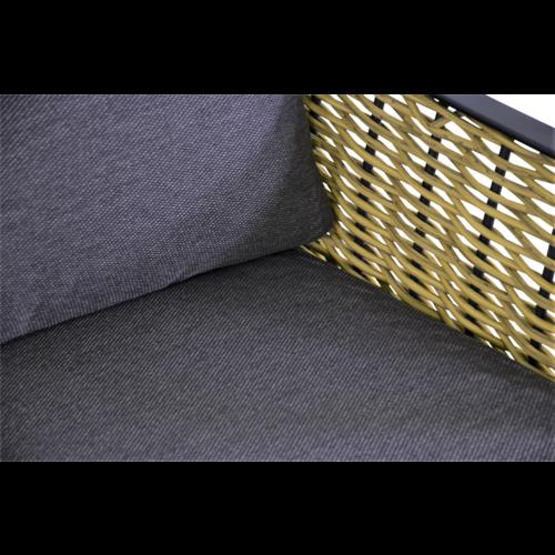 Lesli Living  Stoel-Bank Loungeset - Solamente - Wicker - Lesli Living