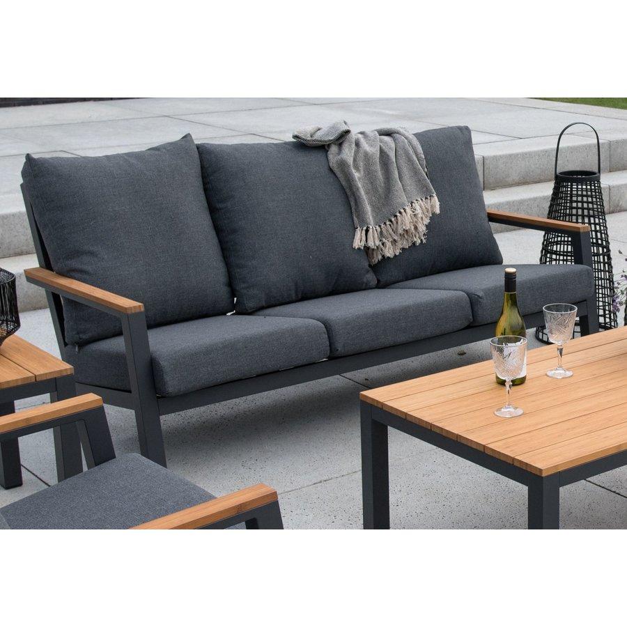 Stoel-Bank Loungeset - Donnan - Aluminium / Bamboe - Lesli Living-5