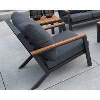 thumb-Stoel-Bank Loungeset - Donnan - Aluminium / Bamboe - Lesli Living-4