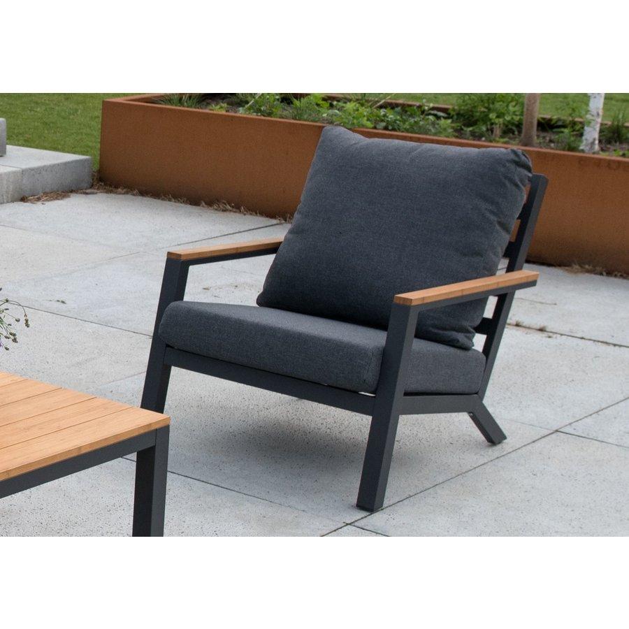 Stoel-Bank Loungeset - Donnan - Aluminium / Bamboe - Lesli Living-6