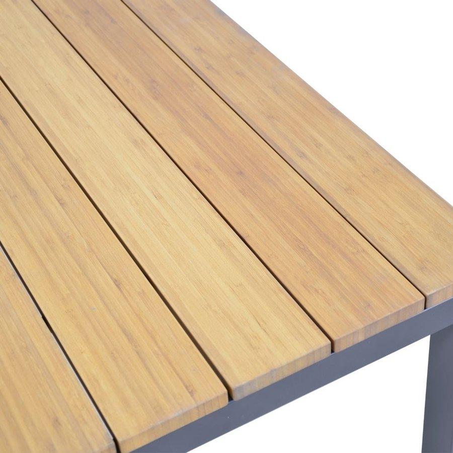 Stoel-Bank Loungeset - Donnan - Aluminium / Bamboe - Lesli Living-9