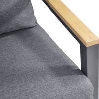 thumb-Stoel-Bank Loungeset - Donnan - Aluminium / Bamboe - Lesli Living-8