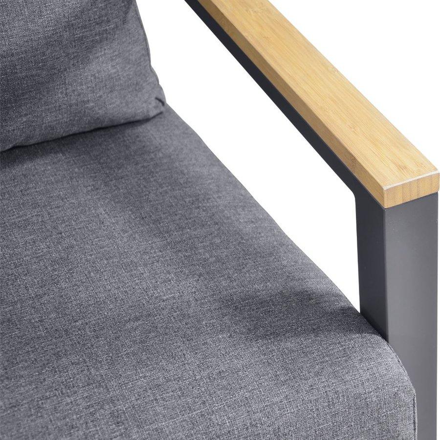 Stoel-Bank Loungeset - Donnan - Aluminium / Bamboe - Lesli Living-8