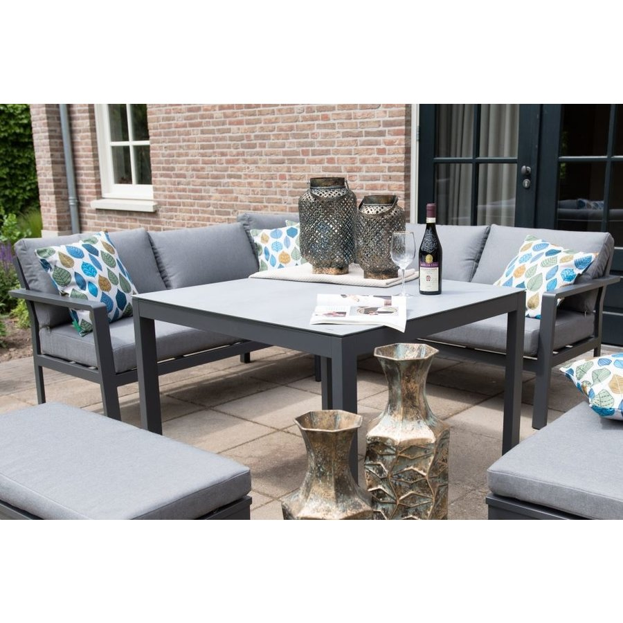 Dining Loungeset - Xara - Aluminium - Lesli Living-5