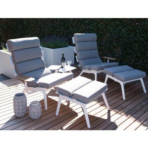 Lesli Living  Lounge Tuinstoelen - Duoset Ventus - Wit - Lesli Living