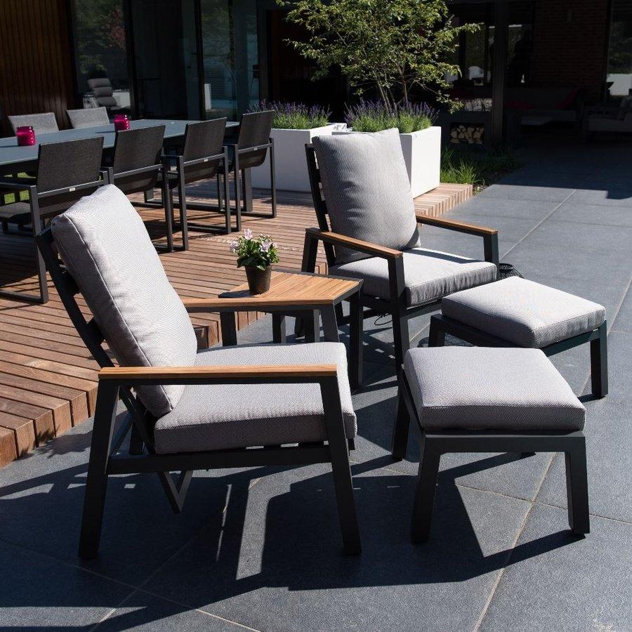 Lounge Tuinstoelen - Duoset Coda - Charcoal - Lesli Living-3