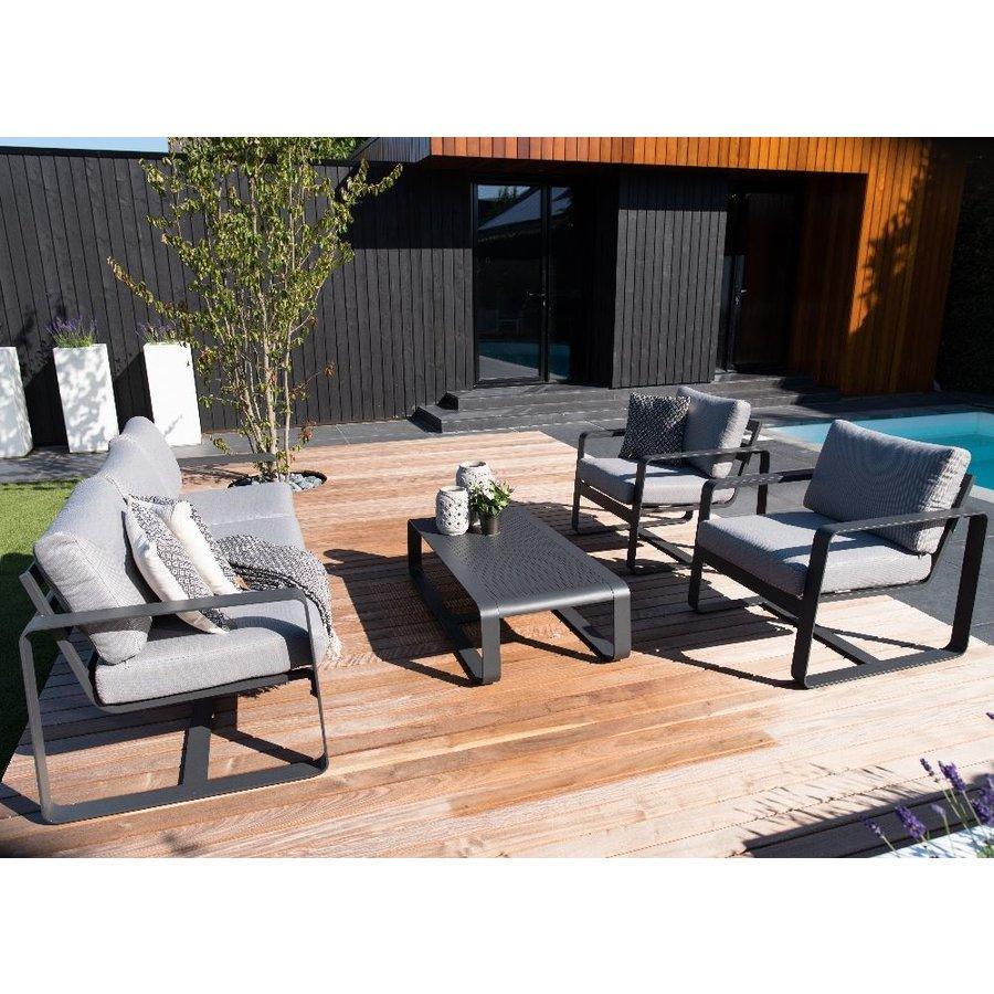 Stoel-Bank Loungeset - Belezza - Aluminium - Antraciet - Lesli Living-3
