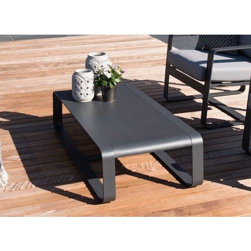 Lesli Living  Stoel-Bank Loungeset - Belezza - Aluminium - Antraciet - Lesli Living