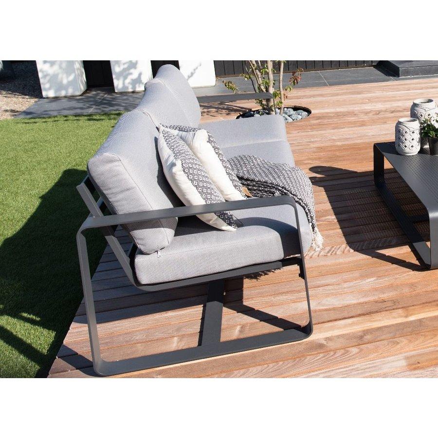 Stoel-Bank Loungeset - Belezza - Aluminium - Antraciet - Lesli Living-4