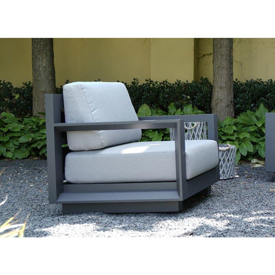 Stoel-Bank Loungeset - Giorgo - Aluminium - Antraciet - Lesli Living-4