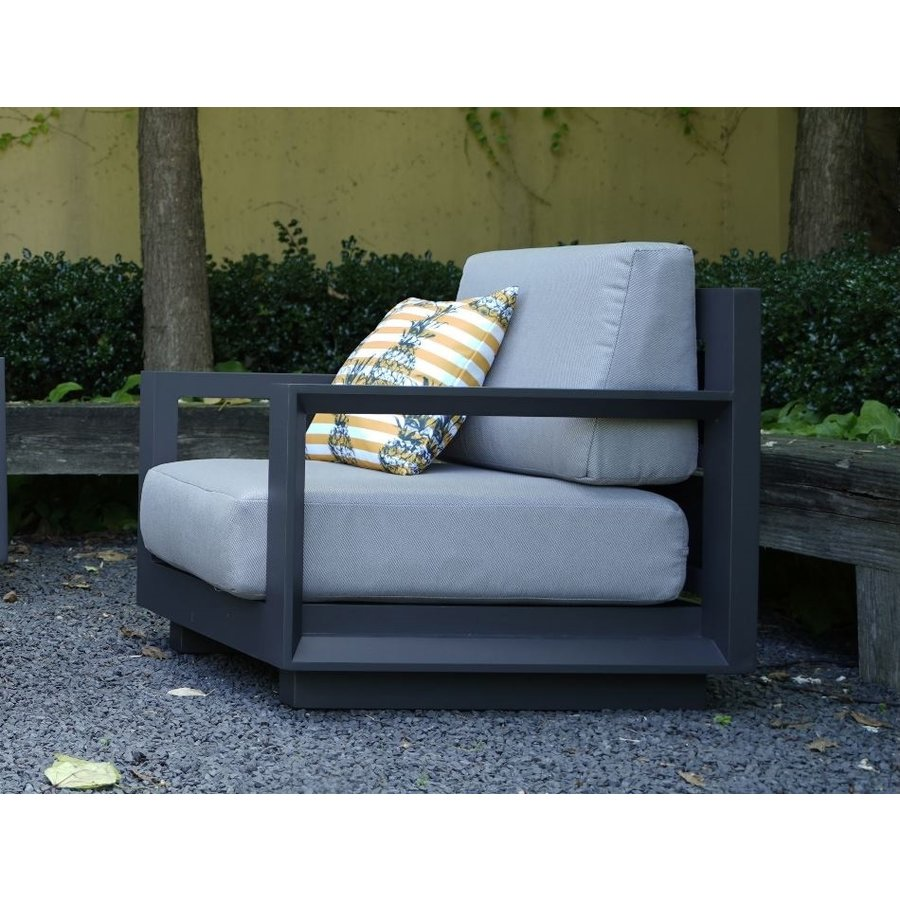 Stoel-Bank Loungeset - Giorgo - Aluminium - Antraciet - Lesli Living-6