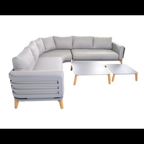 Lesli Living  Hoek Loungeset - Sphere - Aluminium - Lesli Living