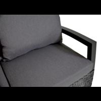 thumb-Hoek Loungeset - Prato Forte - Aluminium/Wicker - Lesli Living-3