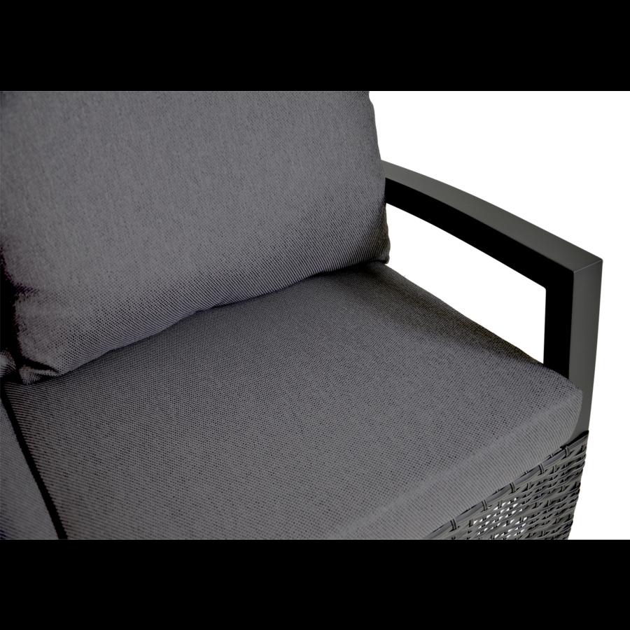 Hoek Loungeset - Prato Forte - Aluminium/Wicker - Lesli Living-3