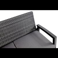 thumb-Hoek Loungeset - Prato Forte - Aluminium/Wicker - Lesli Living-4