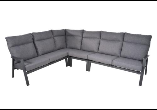 Hoek Loungeset - Ohio - Antraciet - Aluminium - Lesli Living
