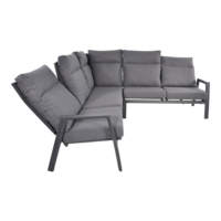 thumb-Hoek Loungeset - Ohio - Antraciet - Aluminium - Lesli Living-3