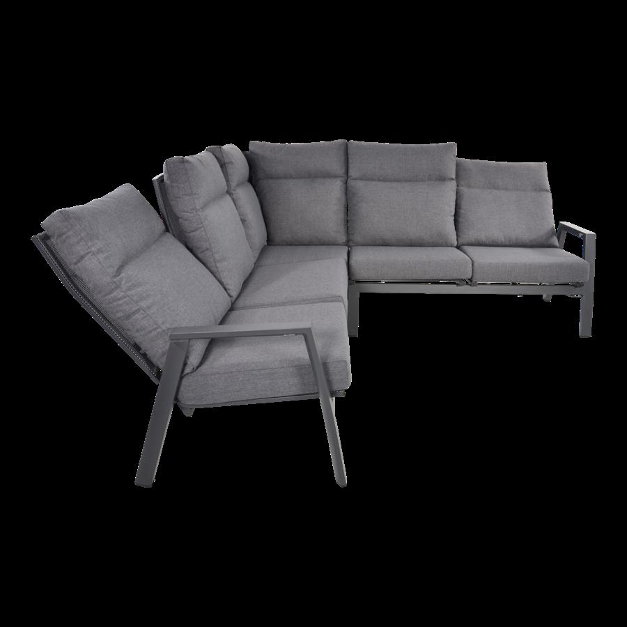 Hoek Loungeset - Ohio - Antraciet - Aluminium - Lesli Living-3