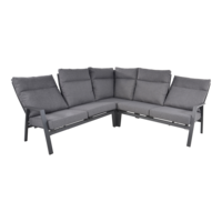 thumb-Hoek Loungeset - Ohio - Antraciet - Aluminium - Lesli Living-4
