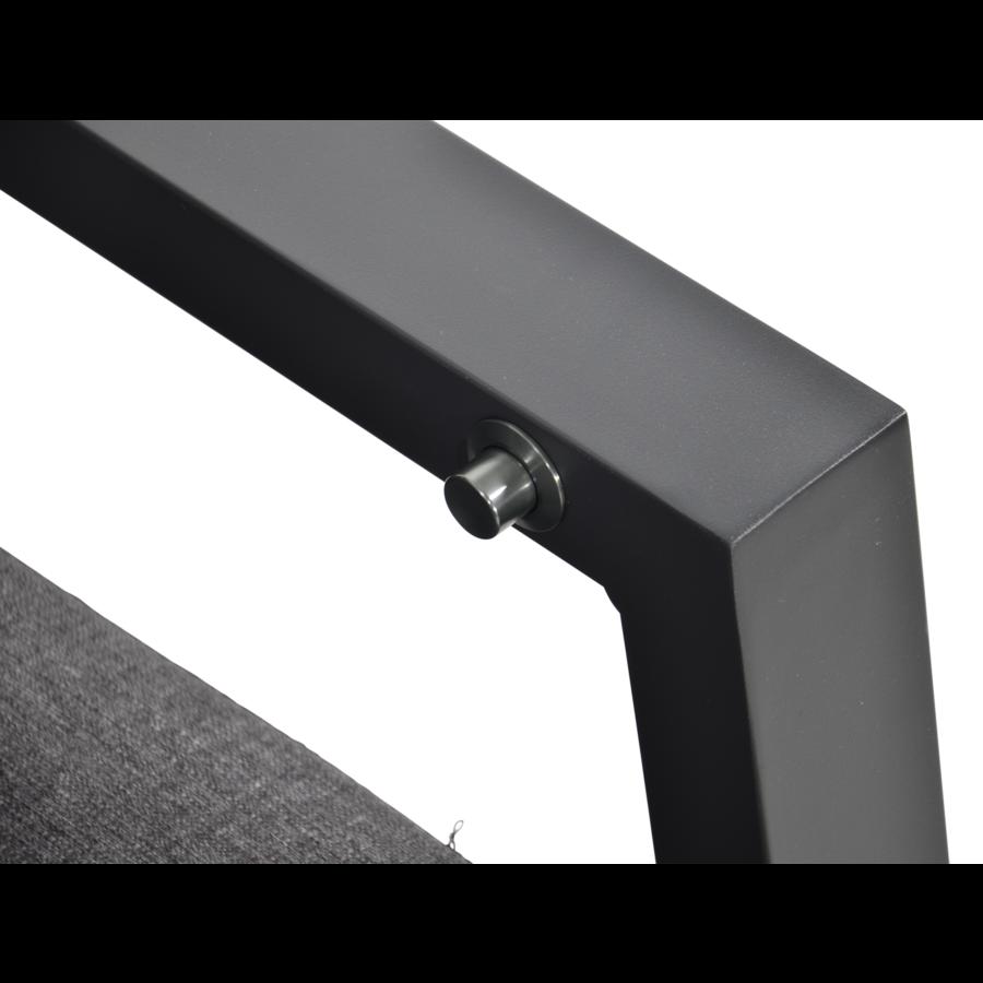 Hoek Loungeset - Ohio - Antraciet - Aluminium - Lesli Living-7
