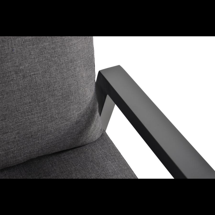 Hoek Loungeset - Ohio - Antraciet - Aluminium - Lesli Living-6