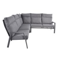 thumb-Hoek Loungeset - Ohio - Antraciet - Aluminium - Lesli Living-2
