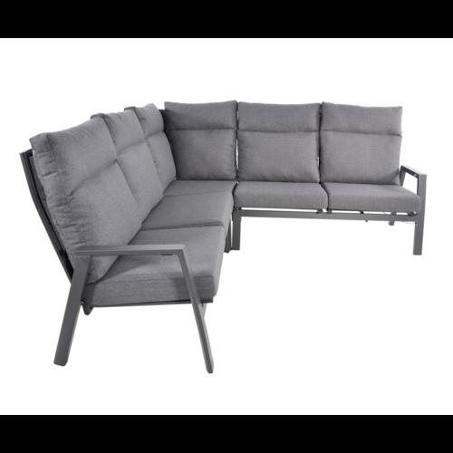 Lesli Living  Hoek Loungeset - Ohio - Antraciet - Aluminium - Lesli Living
