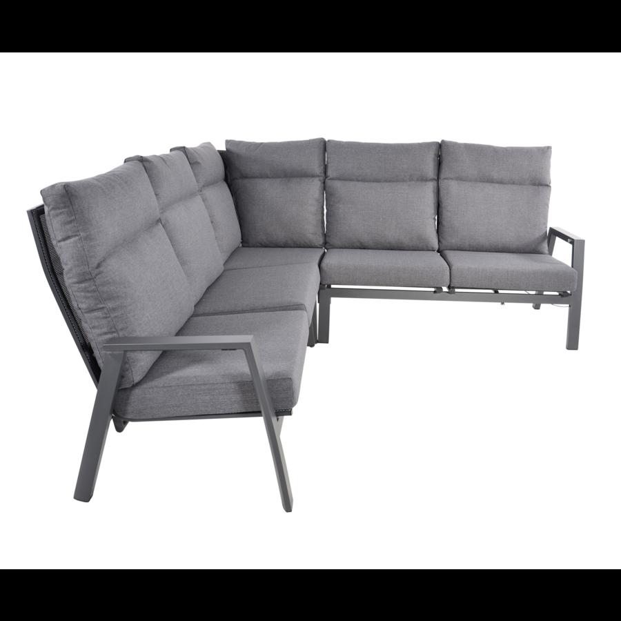 Hoek Loungeset - Ohio - Antraciet - Aluminium - Lesli Living-2
