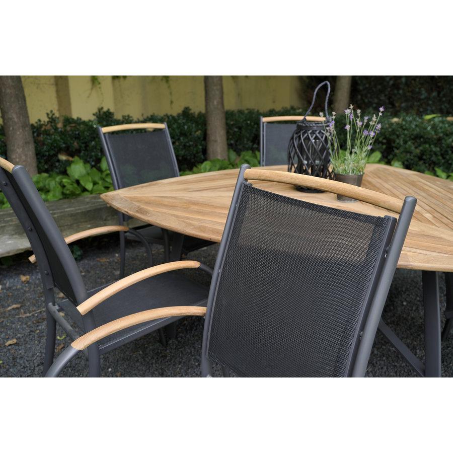 Tuinstoel Stapelbaar - Monza - Teak - Lesli Living-5