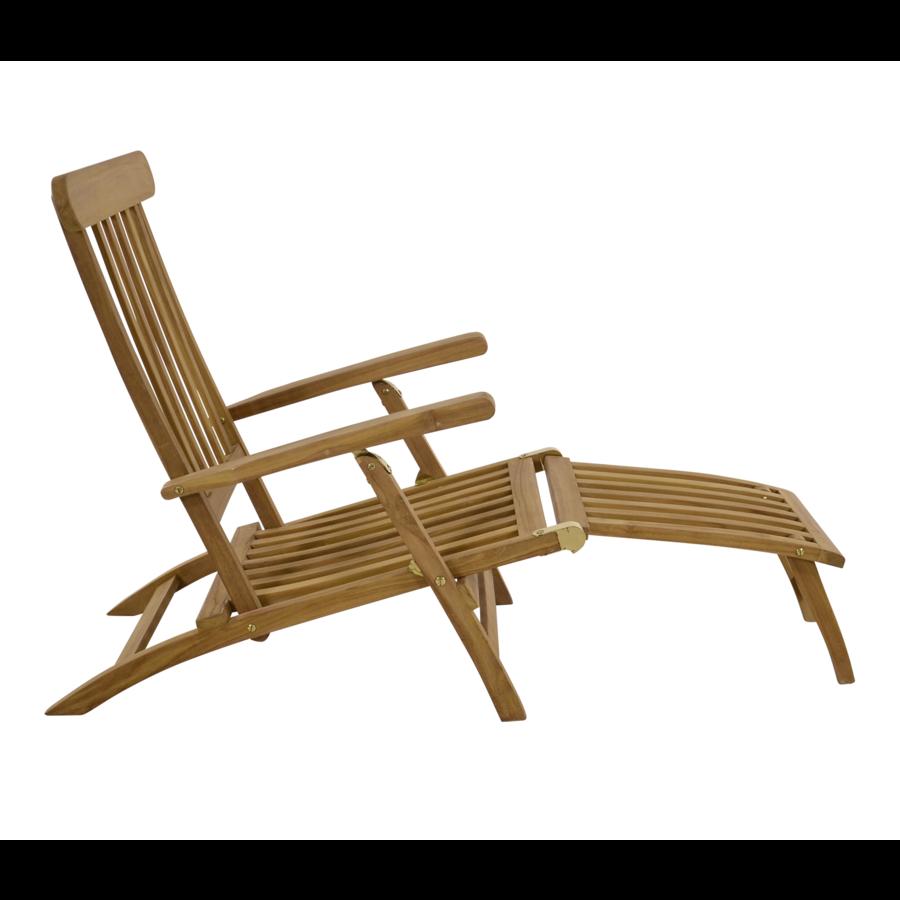 Deckchair - Lounge Tuinstoel - Teak - Lesli Living-2