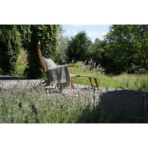 Lesli Living  Deckchair - Lounge Tuinstoel - Teak - Lesli Living