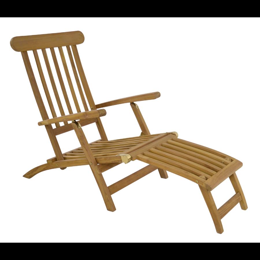 Deckchair - Lounge Tuinstoel - Teak - Lesli Living-1