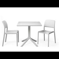 thumb-Bistro Tuintafel - CLIPX - 80cm - Wit - Nardi-2
