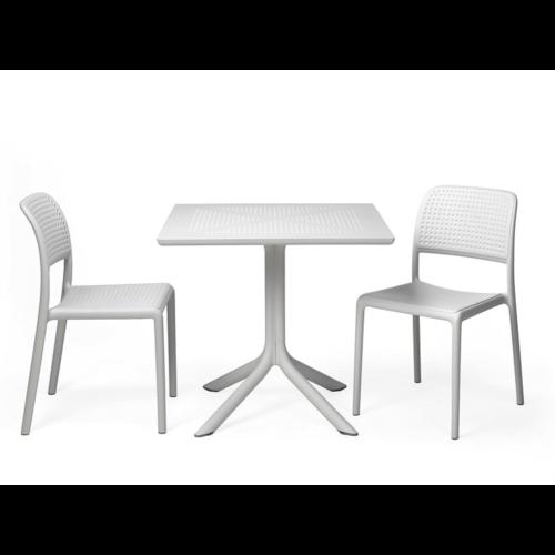 Nardi Bistro Tuintafel - CLIPX - 80cm - Wit - Nardi