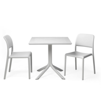 thumb-Bistro Tuintafel - 70cm - CLIPX - Wit - Nardi-2