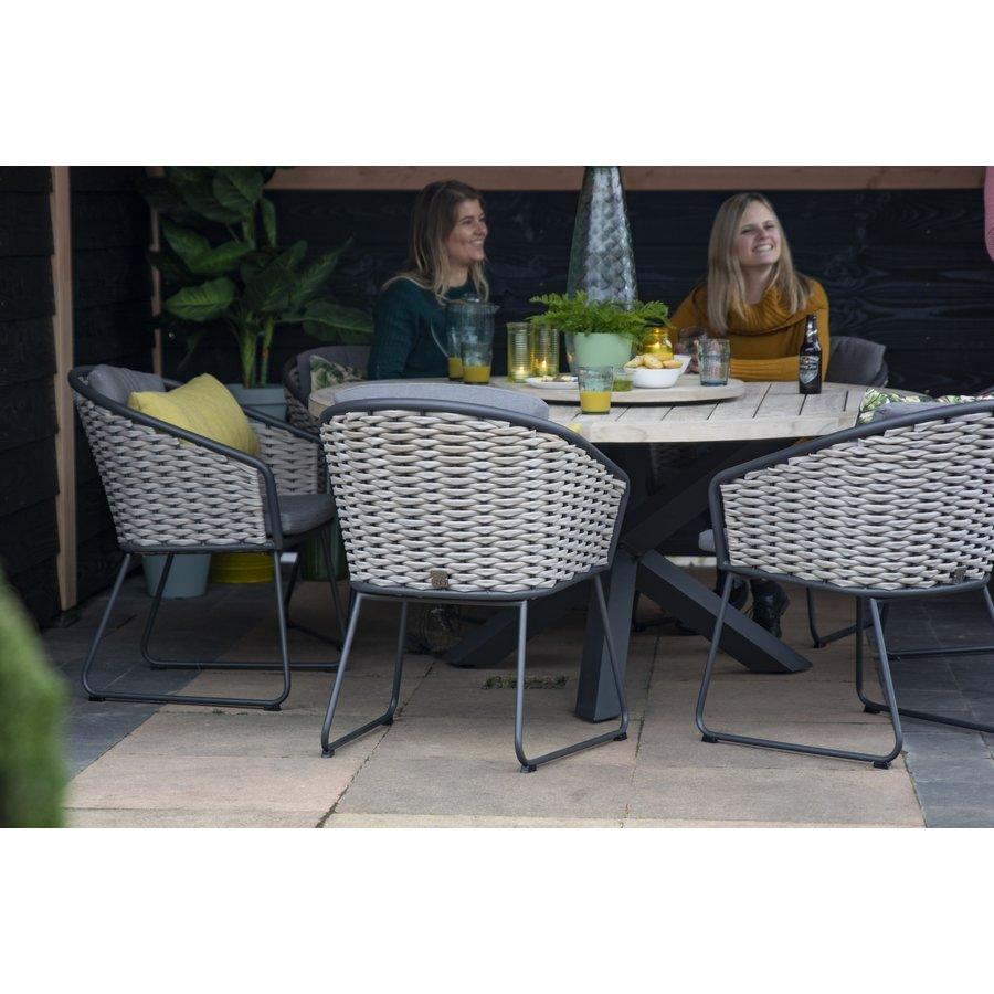 Dining Tuinstoel - Bo - Antraciet - Wicker - Taste by 4SO-5