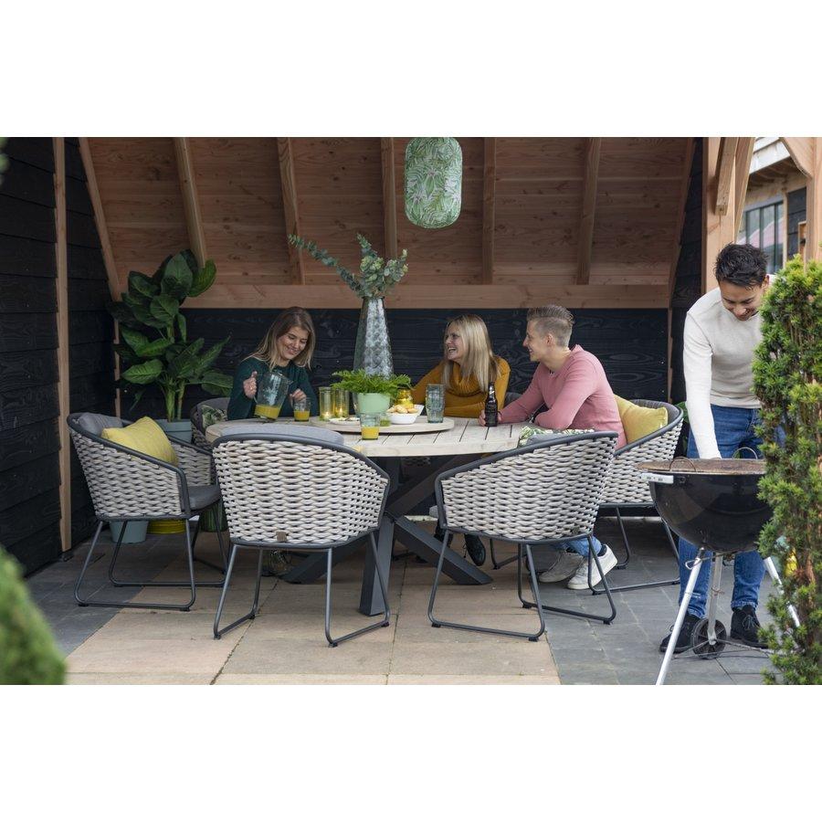 Dining Tuinstoel - Bo - Antraciet - Wicker - Taste by 4SO-4