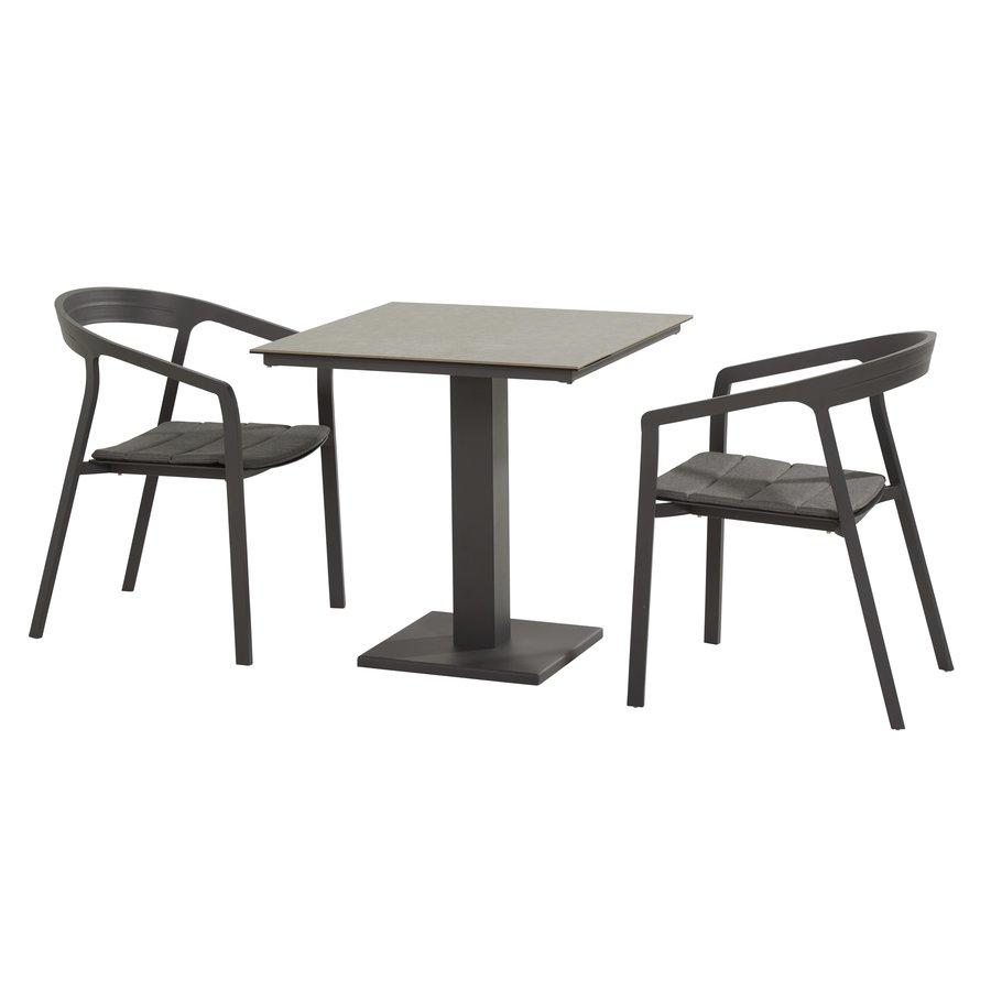 Tuinstoel Stapelbaar - Copenhagen - Antraciet - Aluminium - Taste by 4SO-9