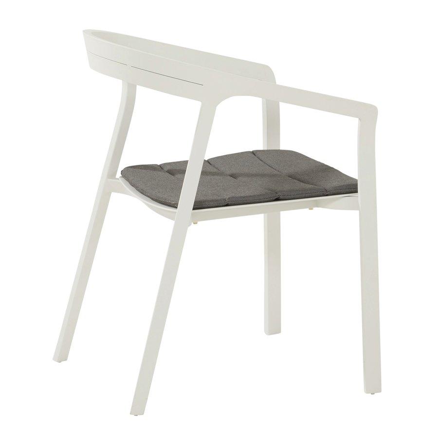 Tuinstoel Stapelbaar - Copenhagen - Wit - Aluminium - Taste by 4SO-4