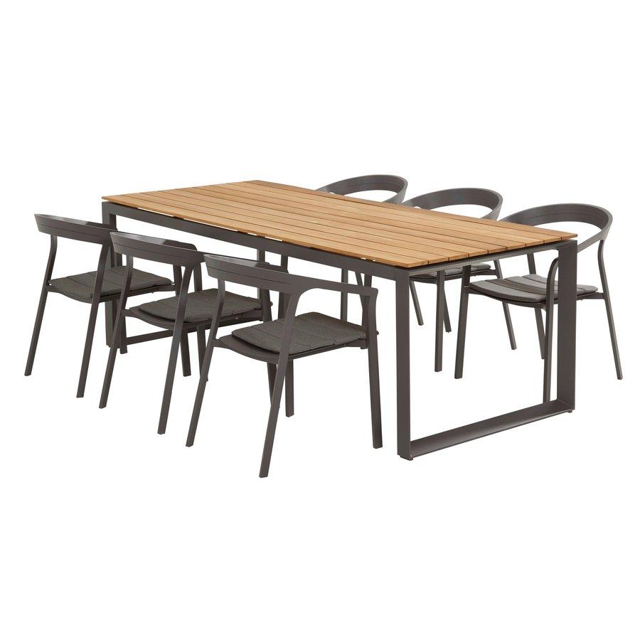 Tuintafel - Heritage - Teak / Aluminium - 220x95 cm - Taste by 4SO-7
