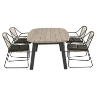thumb-Ovale Tuintafel - Derby - Teak / Aluminium - 180x110 cm - Taste by 4SO-6
